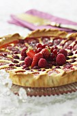 Almond tart with summer fruit