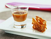 praline jelly and almond crunchy