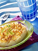 Browned cauliflower puree
