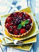 two summer fruit tart (topic: tarts)