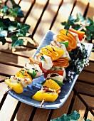 Chicken and orange kebabs