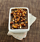 blood sausage creme brulee with walnuts (topic: creme brulee)