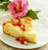 Summer fruit cheese cake ( topic : in the open air)