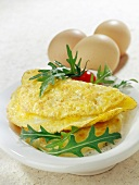 Omelette with rocket (topic : omelette)