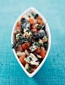Tomato and sardine tartare