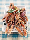 Langoustines with garlic and butter