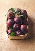 punnet of quetsch plums