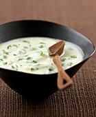 creamed cauliflower and chervil soup