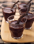 Glasses of chocolate and licorice
