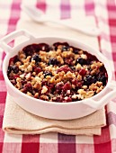 Summer fruit crumble