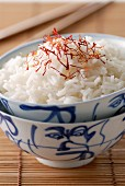 Bowl of rice with saffron