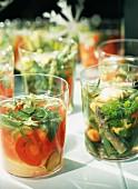 Summer salad verrines