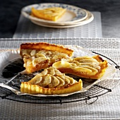 Portions of apple tart