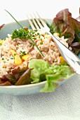 Rice, tuna and caper salad