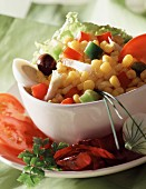 Mixed corn salad