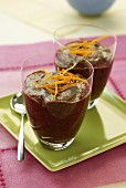 Blackberry and orange zest verrine