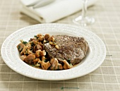 Entrecote with mushrooms