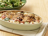 Chicory and leek gratin