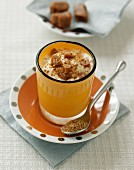 Caramel and nougatine mousse
