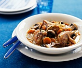 chicken fricassé with mushrooms