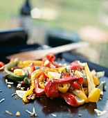 Peppers with lemon a la plancha