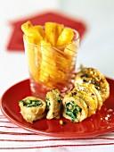 Gefüllte Geflügelbrust mit Spinat und Pinienkernen