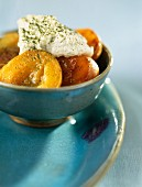 Apricots roasted with green tea