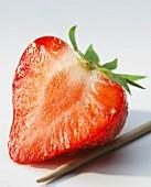 Strawberry cut in half
