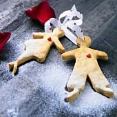Liebespaar-Plätzchen zum Valentinstag