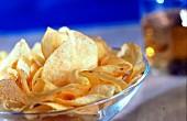 Potato crisps as a snack
