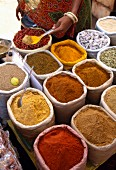 Selection of ground spices