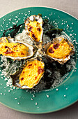hollow oysters au gratin