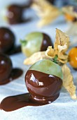 Chocolate-dipped fruits