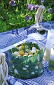 Melon and mozzarella picnic salad