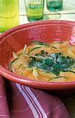 Provençal-style cold melon soup with basil