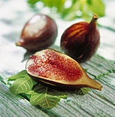 Fresh figs outdoors