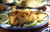 Briouats au fromage (fried pastry parcels filled with cheese, France)