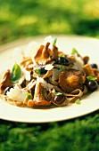 Tagliatelle with chanterelles and parmesan