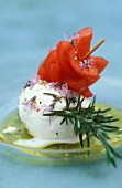 tomato and mozzarella skewer with rosemary