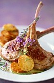 Lamb chops with lavender