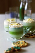 Cactus jelly with whipped cream