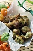 Acras de morue (mini vegetables and fish doughnuts, France)