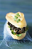 Periwinkles on bread