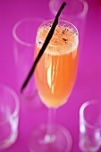 Champagne cocktail with orange and vanilla