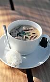 Seeohrensuppe mit Reis