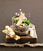 Coddled eggs with foie gras