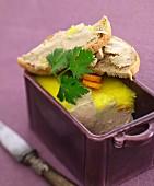 Foie gras and sauterne terrine