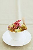 Salat mit Eisbein, Zwiebeln und Sherryessig
