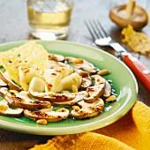 Shiitake and cep mushrooms carpaccio
