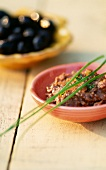Tapenade with tomatoes